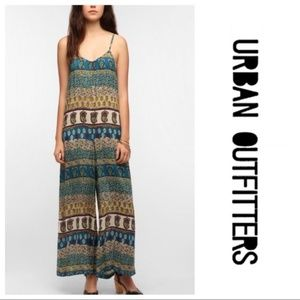 Urban outfitters Floral Paisley Wide-Leg Jumpsuit